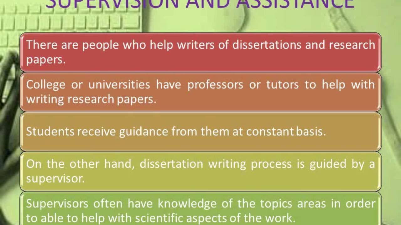 difference between a research paper and a thesis difference between a research paper and a thesis