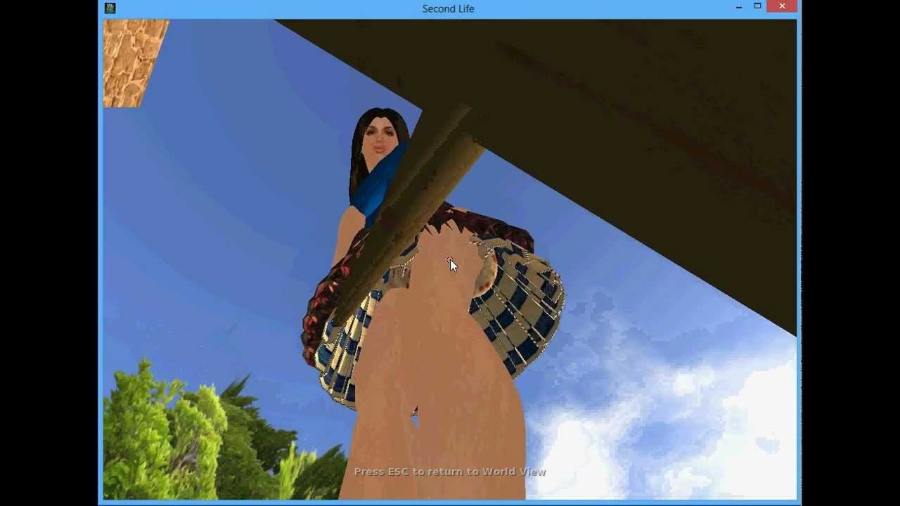 Giantess Sweeping The Ground In Second Life