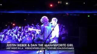 JUSTIN BIEBER & DAN THE MAN : 'Favorite Girl' - Live In L.A.