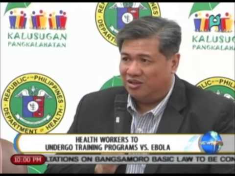 NewsLife: Health workers to undergo training program vs. Ebola || Oct. 17, 2014