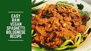 Easy Raw Vegan Spaghetti Bolognese Recipe