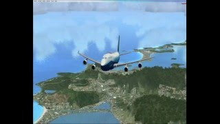 Fsx - flight over Caribbean; Boeing 747