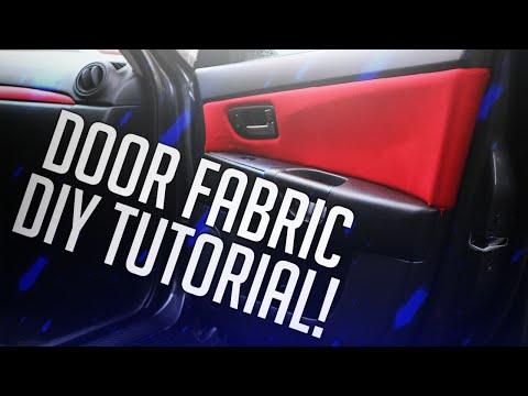 HOW TO DIY DOOR PANEL FABRIC/INSERTS