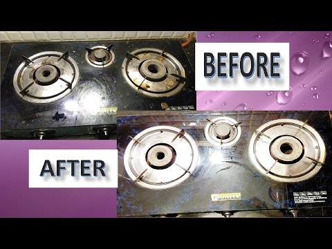 How to Clean Gas Stove at Home || How to Clean Glass Top Stove