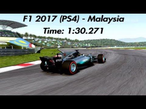 F1 2017 (PS4) - Malaysia Hotlap - 1:30.271