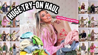 Try on thrift haul! Come thrift shopping with me! (My new wardrobe)