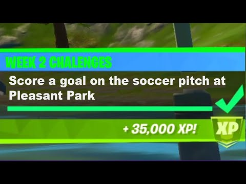 Score A Goal On The Soccer Pitch At Pleasant Park Fortnite