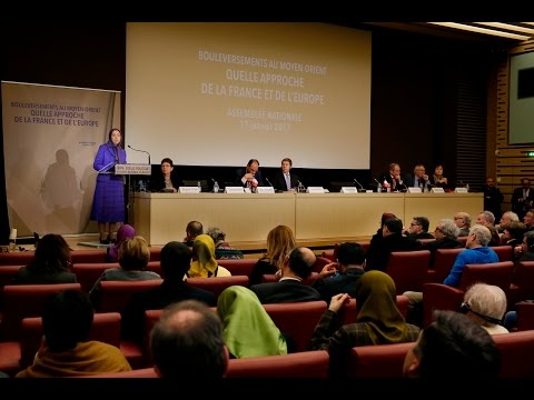 Maryam Rajavi at the French National Assembly- 17 Jan 2017