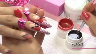 Наращивание ногтей биогелем ruNail