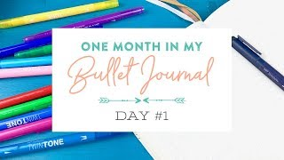 One Month in my Bullet Journal 2019: Day 1