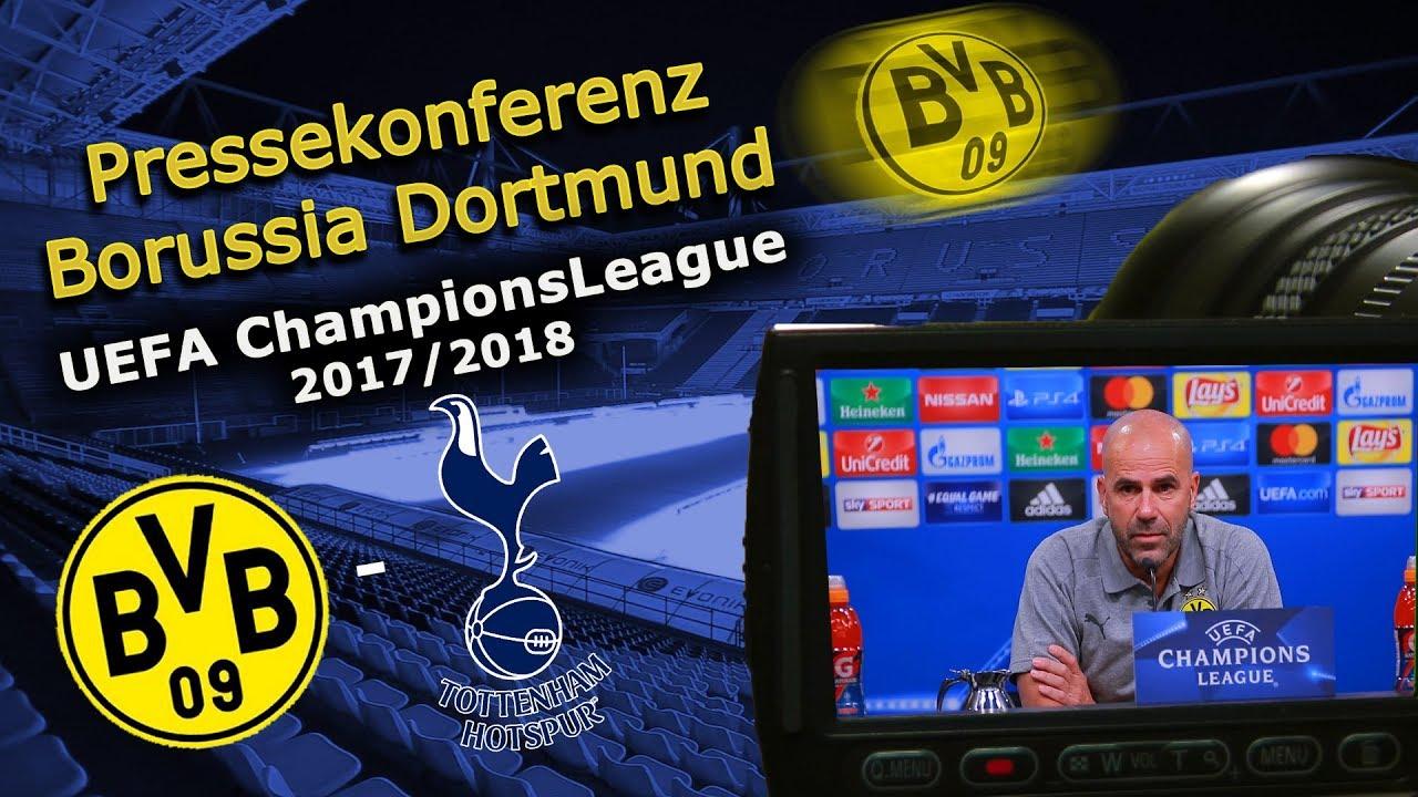 Borussia Dortmund - Tottenham Hotspur: Pk mit Peter Bosz und Julian Weigl