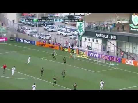 Gol de Fred - America-MG 0 x 1 Fluminense - Campeonato Brasileiro Serie A 2016