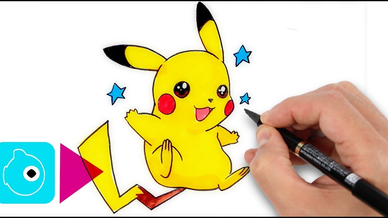 comment dessiner pikachu 1 apprendre dessiner. Black Bedroom Furniture Sets. Home Design Ideas