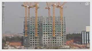 Construction d'un bâtiment de 57 étages en 19 jours / 19天建成57层建筑