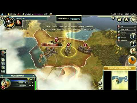 Let's Play Civilization V: Conquest of the New World; England; (Deity difficulty) part 2 |