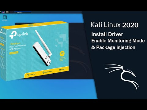 [kali 2020] Install And Enable Monitor Mode On TP-Link TL-WN722N[version 3]