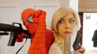Frozen Elsa SWAT Vs Vendetta WAR GUNSHOT W Spiderman Snow White FUN IRL Superhero In Real Life