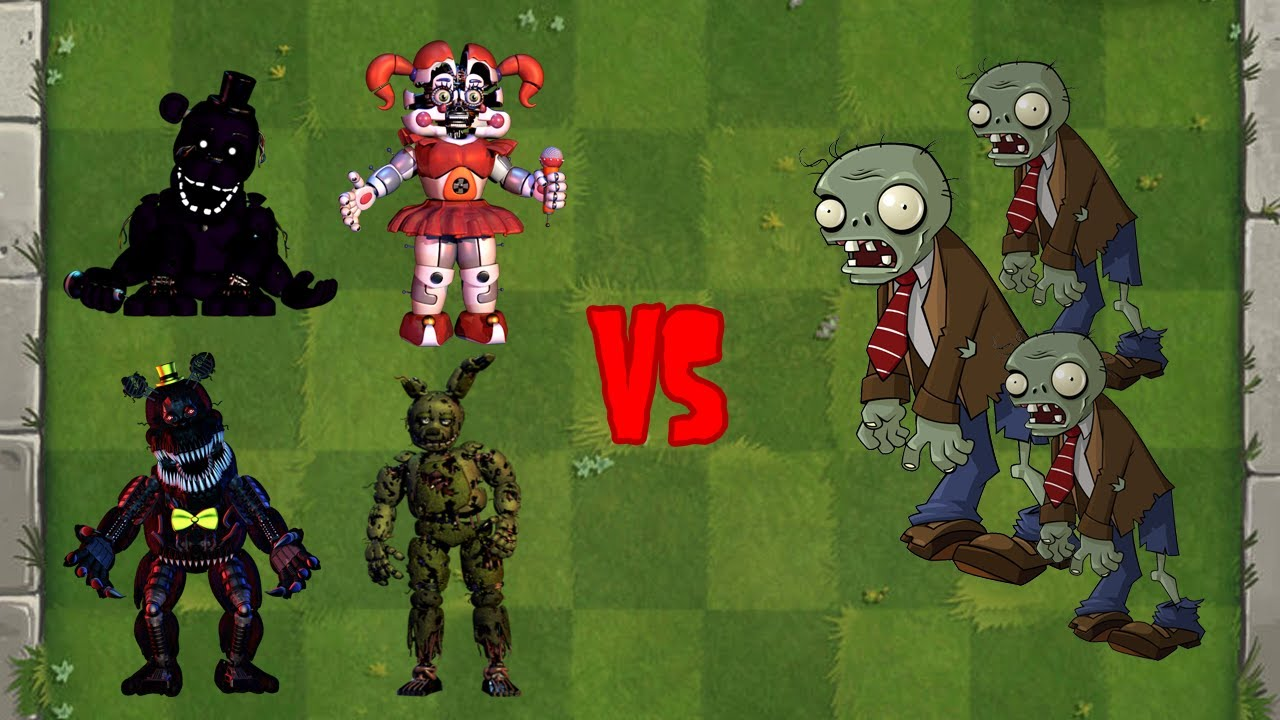 FNAF Animatronics + Peashooter Fusion vs Zombies - Plants vs Zombies Animation