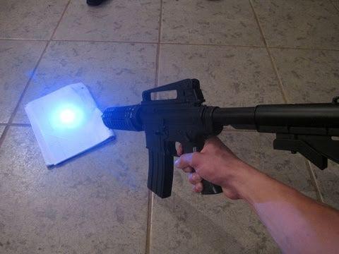 Real Life Laser Gun! Airsoft Gun Hacked Into Laser Blaster!