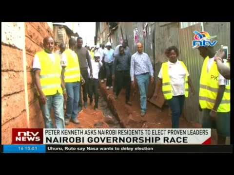 Peter Kenneth asks Nairobi residents to elect proven leaders