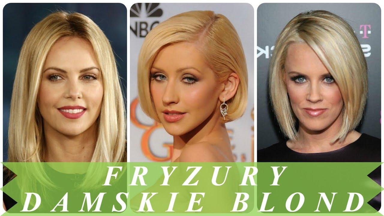 Modne Fryzury Damskie Blonde Bob