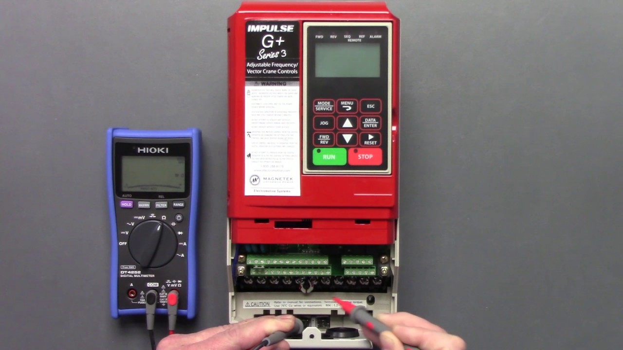 Static Inverter Drive : Magnetek crane inverter drive g vg series static check