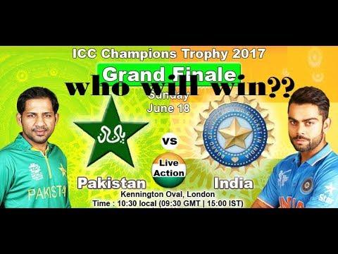 Jun 18, Sunday Pakistan vs India, Final ICC 2017 World Cricket Championship 2 2017 Gameplay