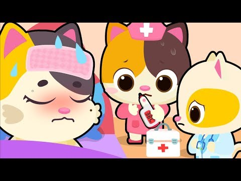 download Mommy Cat Got Sick | Kitten Doctor | Sick Song | Nursery Rhymes | Kids Songs | Baby Cartoon |BabyBus