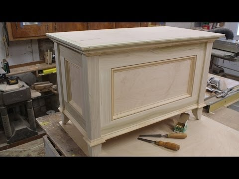 Make a Blanket Chest / Toy Chest - Part 2 - Making the Top ...