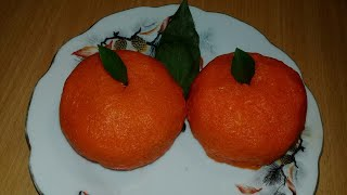 Закуска мандаринка. Закуска на праздничный стол. Закуска из сыра, яиц и моркови.