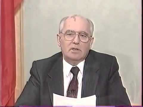 Discurso de renuncia de Mijaíl Gorbachov subtitulado en castellano