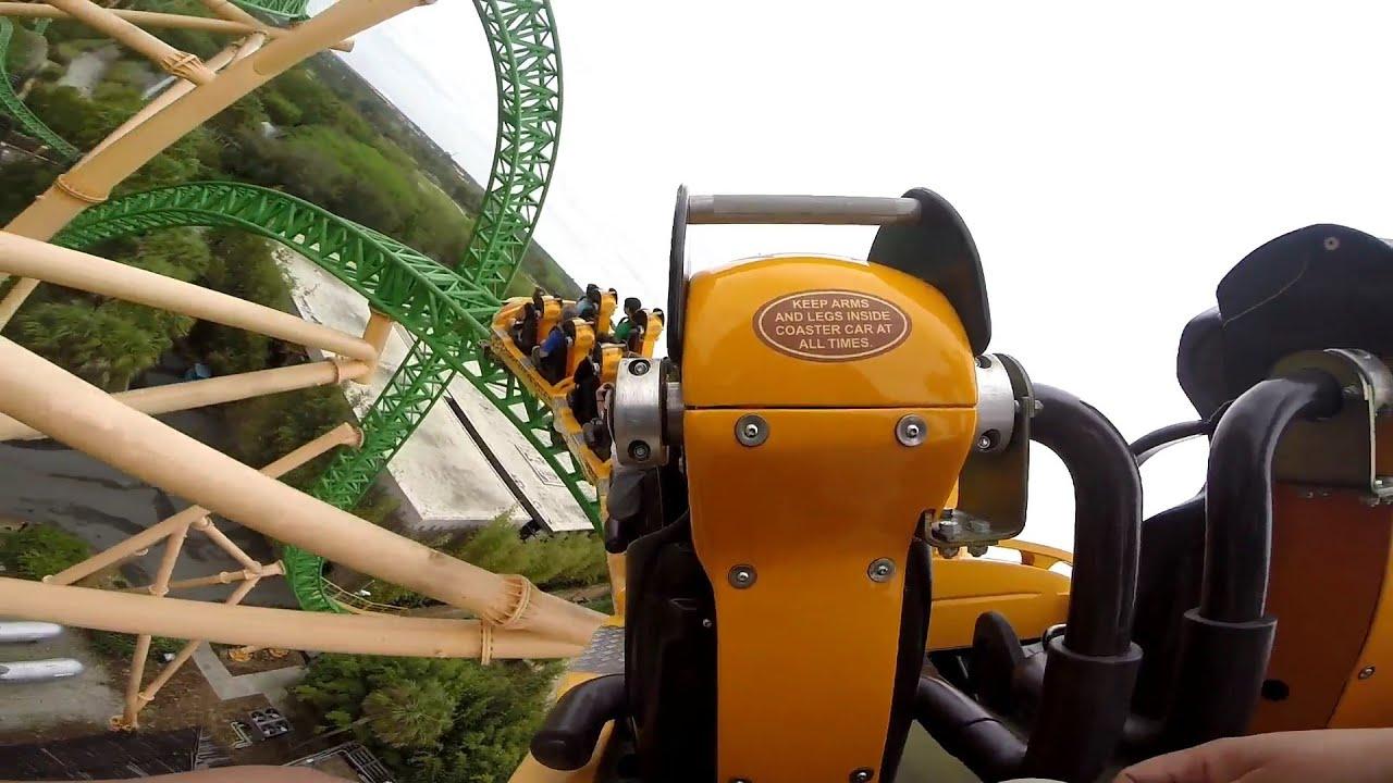 Cheetah Hunt Coaster OnRide POV Busch Gardens Tampa GoPro HD 1080p ...