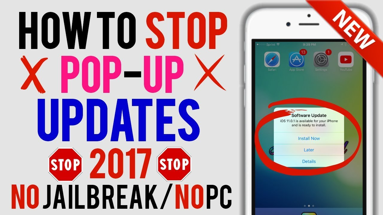how to stop an update in progress on iphone