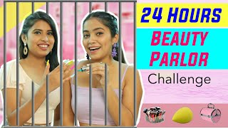 24 Hours BEAUTY PARLOR Challenge at HOME | Anaysa