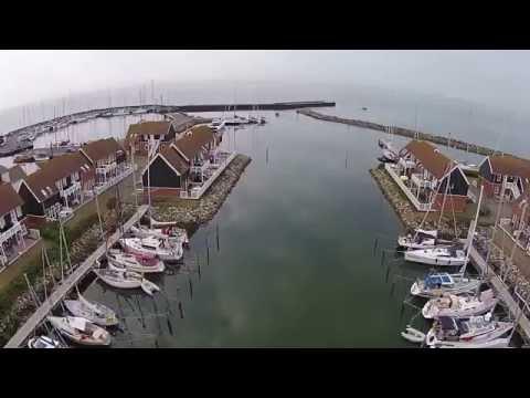 klintholm havn denmark from above