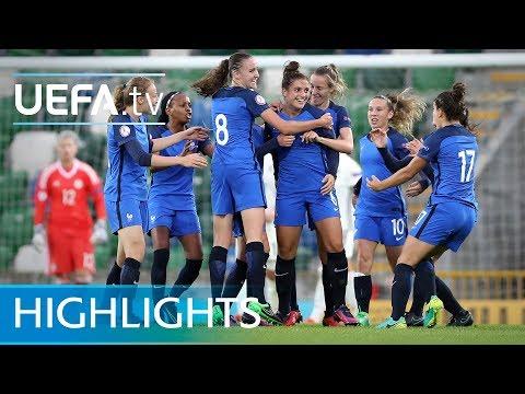 Women's Under-19 EURO semi-final highlights: Germany 1-2 France