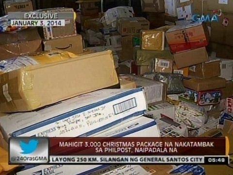 24 Oras: Mahigit 3,000 christmas package na nakatambak sa Philpost, naipadala na