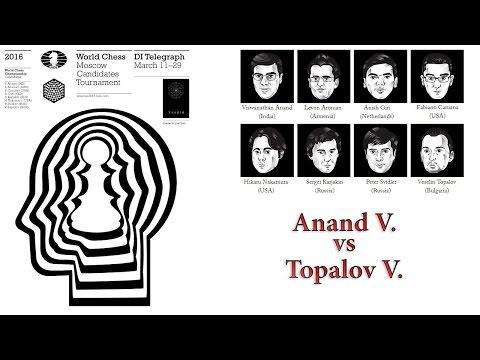Candidates 2016 (Round 1) Anand V. vs Topalov V.