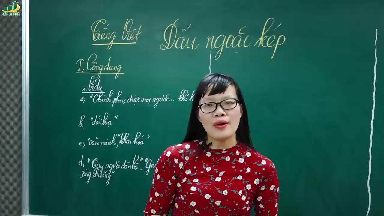 Ngữ Văn Lớp 8 – Bài giảng Dấu ngoặc kép ngữ văn lớp 8   TIếng Việt: Dấu câu  Cô Lê Hạnh