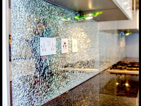 Crackle Glass Worktop Kitchen