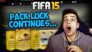 MY PACK LUCK CONTINUES! - FIFA 15 PACK OPENING
