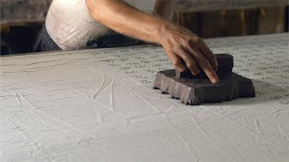 Block printing - Printing of cloth with carved wooden blocks