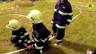 Mladí hasiči SDH Dalešice - Dětský den - ukázka hašení požáru