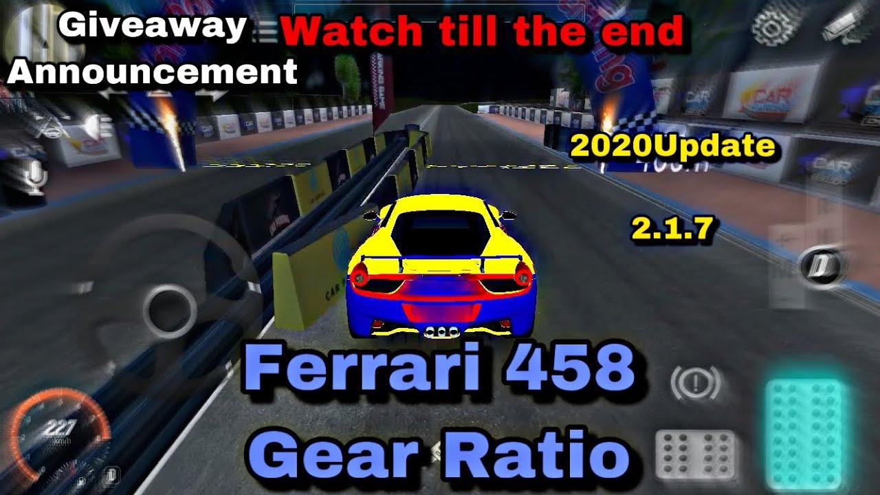 Ferrari 458 Gear Ratio Giveaway Announcement Car Parking