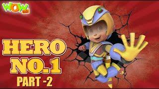 Vir The Robot Boy | HERO No 1 | Part 2 | Cartoon Movies For Kids | Wow Kidz