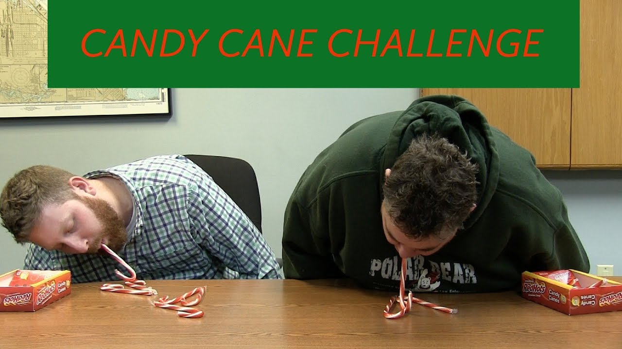 christmas party game candy cane challenge