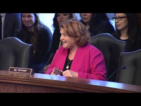 Heitkamp Welcomes Turtle Mountain Chairman to Senate Indian Affairs Committee Hearing