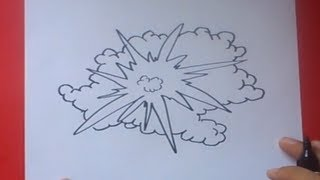 Como dibujar una explosion paso a paso 2 | How to draw an explosion 2
