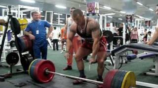 Климов Владимир М С М К  тяга становая 270 кг вес 95 кг  тр зал Банзай  13 03 2009г