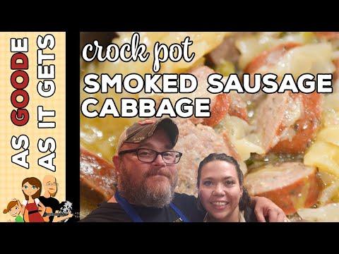 Crock Pot Smoked Sausage Cabbage (Low Carb)